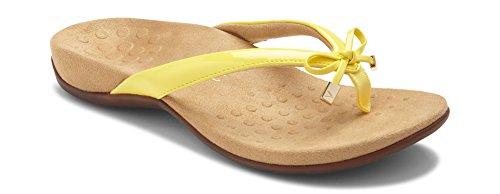 Yellow Sandals Dress (Vionic Women's Rest BellaII Toepost Sandal Yellow 9.5M US)