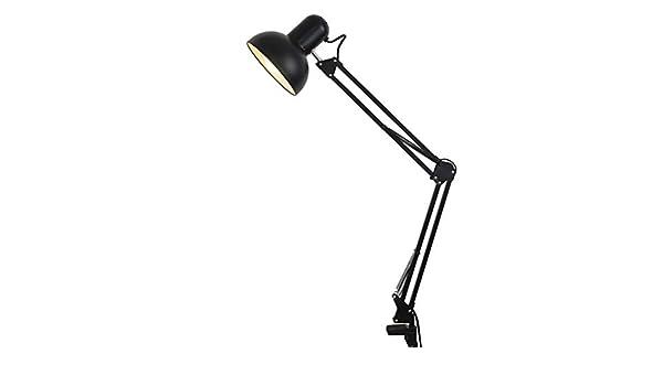 TDMBM - Lámpara de mesa plegable de brazo largo con pinza, para ...
