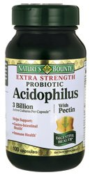 Bounty Probiotic Acidophilus de la nature avec de la pectine Extra Strength - 3000000000 - 100 Capsules