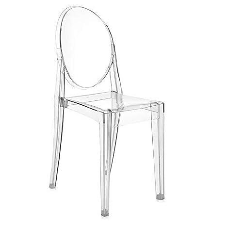 Kartell 04857B4 Stuhl Victoria Ghost, Farbe: Cristallo, 2 Stück ...