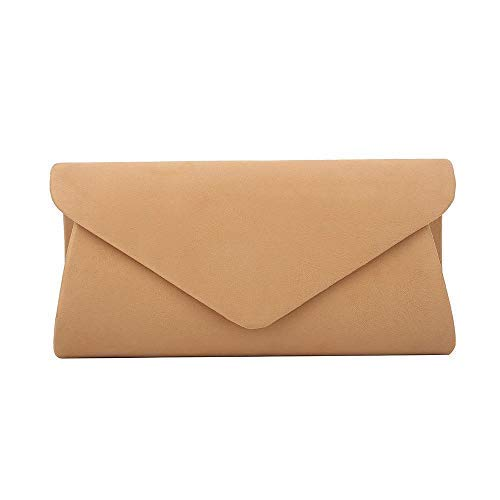 Haute for Diva Ladies 3D Envelope Clutch Bag Black Camel