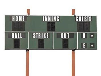 Wallmonkeys Scoreboard Wall Mural Peel and Stick Graphic (30 in W x 23 in H) ()