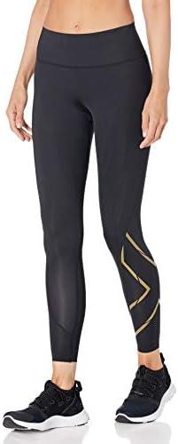 2XU Damen MCS Run Kompression Leggings Lange Sporthose Fitnesshose Schwarz Sport