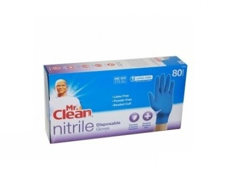 Mr. Clean 243063 Disposable Latex and Powder Free Gloves, 80-Count, Piece