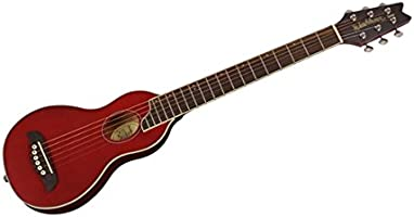 Washburn RO10 Rover 6 cuerdas Guitarra Acústica de viaje – rojo ...