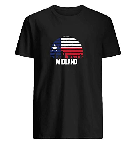 Midland texas group city trip silhouette T-shirt This vignette shirt is a great gift for - Midland Clothing