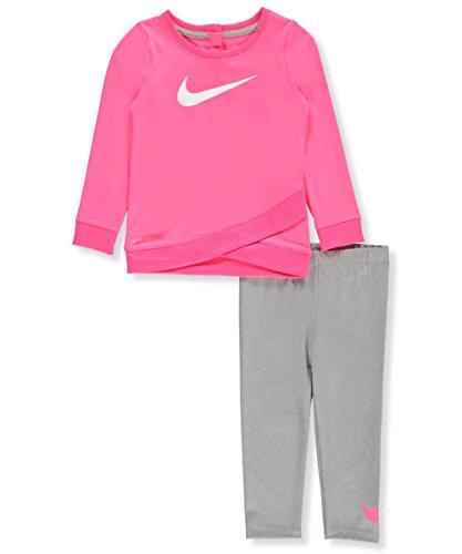 Nike Baby Girls' 2-Piece Outfit - dark heather gray, 24 months