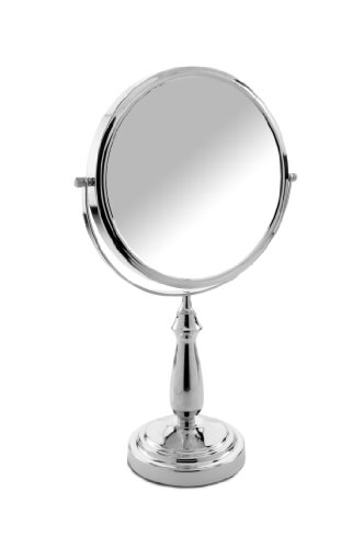 Danielle Creations Large Column Stem Vanity Mirror, 10X Magnification