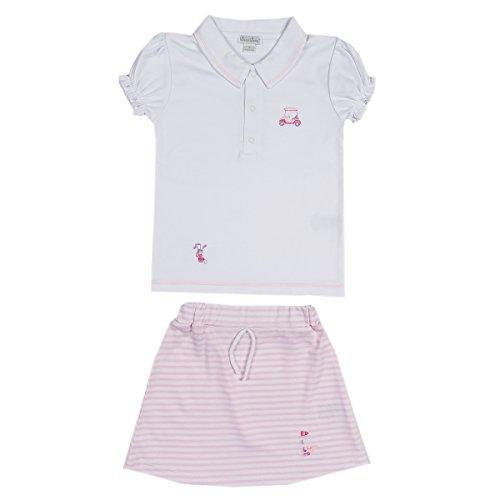 Kissy Kissy Skirt - Kissy Kissy Little Girls Mini Golf Skirt Set - Pink - Toddler-4T