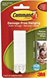 Bulk Buy: 3M Command Narrow Picture Hanging Strips White 4 Sets/Pkg (3-Pack)