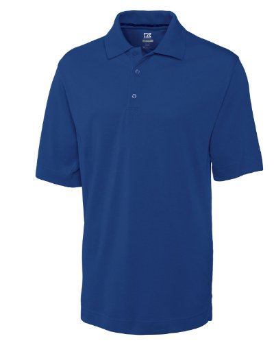 Cutter & Buck Big & Tall DryTec Championship Polo (3XTall, Med Blue)