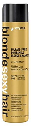Blonde Moisture Shampoo (Sexy Hair Blonde Sulfate-Free Bombshell Shampoo, 10.1 Ounce)