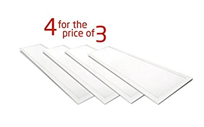 4-PACK ASD LED Panel Dimmable Edge-Lit Flat 1x4 40w 5000k (45% off for 4-packs - only $71.5 per panel!)