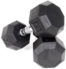 Ader Rubber Coated Octagon Dumbbell Set 5-25 lbs.