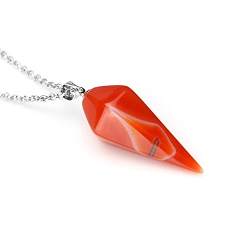 Charm Gemstone Jewelry Hexagonal Pointed Reiki Chakra Pendant Natural Crystal Stone Necklace 17