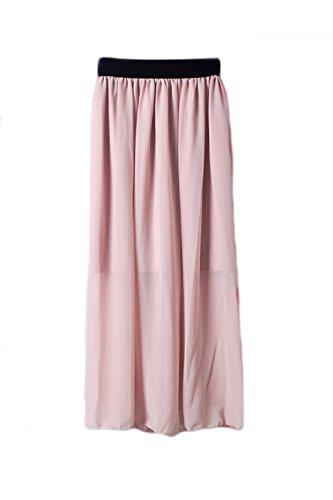 La Mujer Elegante Una Linea De Falda De Gasa Disstressed Fiesta De Oficina Pink