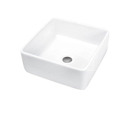 Porcher 15160-00.001 Semplice Square Above Counter Basin, White