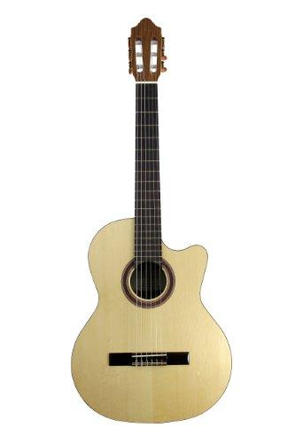 Music Guitar Rondo (Kremona Performer Series Rondo R65CW Cutaway/Electric Nylon String Guitar)