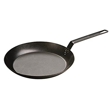 Lodge CRS12 Carbon Steel Skillet, Seasoned and Ready to Use, 12-inch