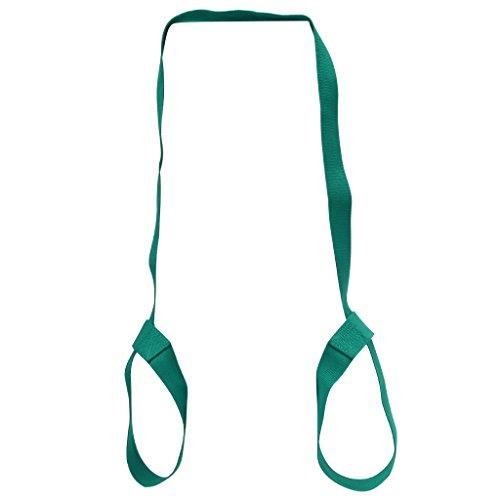 Deboc Adjustable Yoga Mat Sling Carrier Shoulder Carry Strap Belt Exercise Stretch(Green)