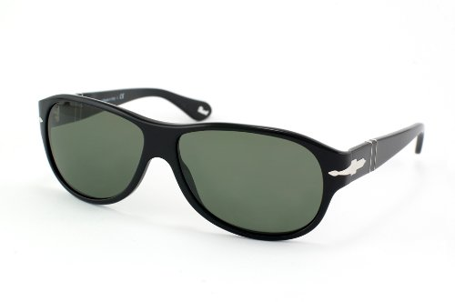 9264def6f7 Image Unavailable. Image not available for. Color  Persol 2932 Shiny Black  Frame Grey Lens Plastic Sunglasses ...