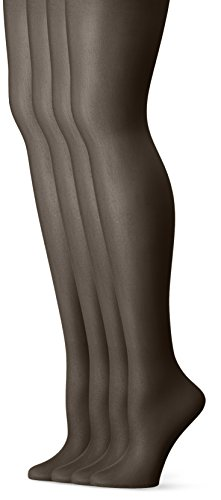 Snow Queen Stocking - L'eggs Women's Everyday Regular Panty Hose, Off Black, Q