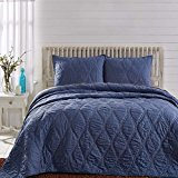 """Inn Style Harbour Quilts & Shams (Navy, Luxury King 105"""" x 120"""")"""