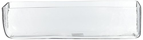 (CYS EXCEL Rectangular Glass Vase Flower Jar, H:4