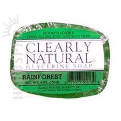 Clearly Natural Rainforest Glycerine Bar Soap, 4 Ounce - 6 per case.