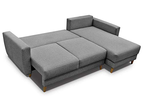 Sensational Gama Mobler Corner Sofa Bed Retro With Storage Sprung Seat Quality Sawana Fabric Modular 3 Seater L Shape Universal Reversible Pull Out Dailytribune Chair Design For Home Dailytribuneorg
