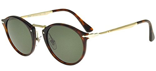 Persol PO3166S Sunglasses 24/31 Havana/Green Lens ()