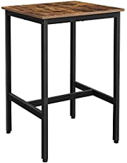 VASAGLE ALINRU Bar Table, Small Tall Table, Steel Frame, Easy Assembly, Rustic Brown ULBT25X