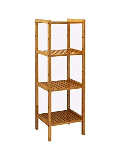 - Purki2 Bamboo Shelf Simple Living Room Bookcase Solid Wood Color Assembly Bathroom Drop Floor Storage Rack Strip Type Multi-Optional Optional (Size : Square-35)