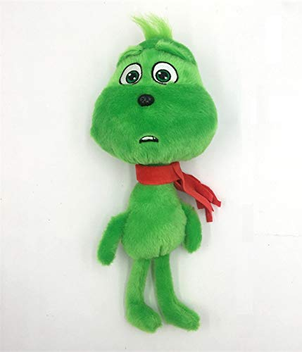 PAPRING Grinch Plush 10.8 inch Green Santa Christmas Illumination Big Toy Large Toys Stuffed Gift Collectable Halloween Birthday Gifts Cute Doll Animal Collectibles New Decoration Collectible for Kids