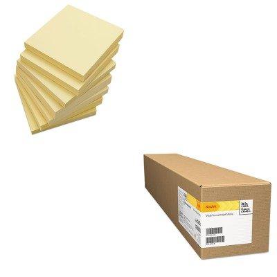KITBMGKPRO36LUNV35668 - Value Kit - Kodak Professional Inkjet Photo Paper Roll (BMGKPRO36L) and Universal Standard Self-Stick Notes (UNV35668) by Kodak