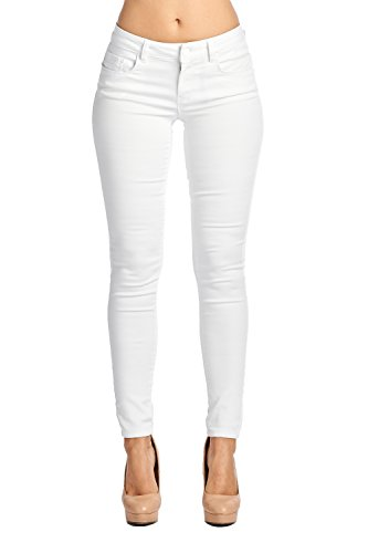 (Blue Age Multistyle Denim and Cotton Skinny Jeans/Pants (5, JP1022_White))