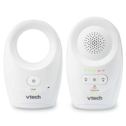 VTech DM1111, Enhanced Range Digital Audio Baby Monitor, 1 Parent Unit, White (Renewed) (Vtech Audio Baby Monitor With 2 Parent Units)