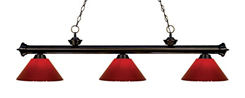 (Z-Lite 200-3BRZ-PRD 3 Billiard Light, Bronze)