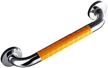 ステンレス手すり、滑り止め付きバスルームサポート手すり、高齢者用安全シャワーアームレストタオルホルダー,Yellow-48cm