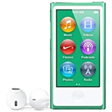 LATEST MODEL Apple Ipod Nano 7th Generation 16 GB Green With Generic White Earpods and A USB Data Cable (Non Retail Packaged in a Brown Box)