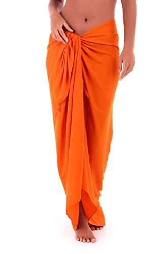 - Shu-Shi Womens Beach Cover Up Sarong Swimsuit Cover-Up, Orange, One Size,Orange,One Size