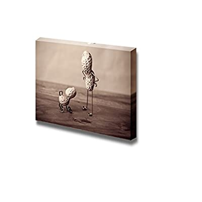 Canvas Prints Wall Art - Miniature Still-Life with Peanut Man and Dog - 16