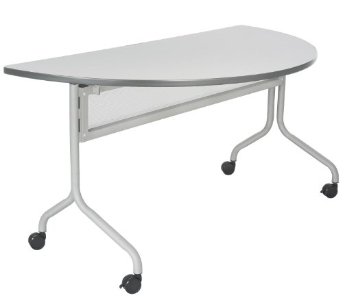Table Training Base - Safco Products 2073GRSL Impromptu Half Round Mobile Training Table, 48