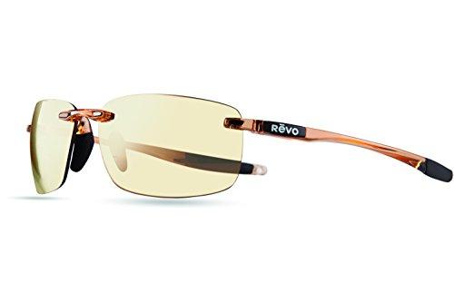 Revo Sunglasses Revo Descend N Polarized Rectangular Sunglasses, Blush Champagne, 64 - Glasses Revo