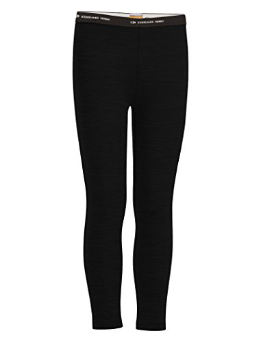 Icebreaker Merino Kids' Oasis Leggings, Black, 14 (Leggings Icebreaker Wool)