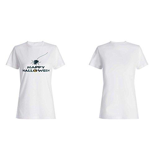 HAPPY HALLOWEEN FUNNY NOVELTY NUEVO camiseta de las mujeres j84f