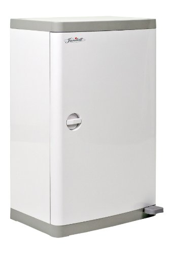 Janibell M400DS ABS 13-Gallon Commercial Diaper Disposal System with Extra Odor Control, Foot Pedal, Rectangular, 15-3/4'' Width x 11-69/100'' Depth x 25-1/5'' Height, White / Gray by Janibell
