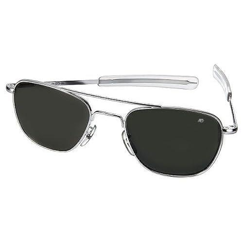 0d8789cb8f ... san francisco 27a77 424f0 AO American Optical Original Pilot Sunglasses  Silver 52mm Bayonet Temples ...