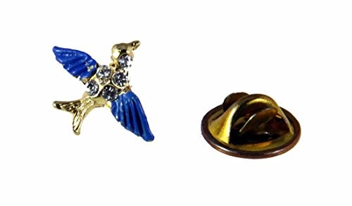 (6030343 Bluebird of Happiness Lapel Pin Brooch Tie Tack Blue Bird Cheer Hummingbird Celebration of)
