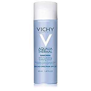Vichy Aqualia Thermal Hydrating Fortifying Lotion 24 Hour Facial Moisturizer with SPF 25, 1.69 Fl. Oz.